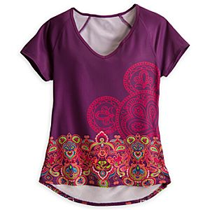 Mickey Mouse V-Neck Workout Tee for Women