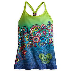 Mickey Mouse Ombre Workout Tank for Women