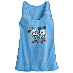 Mickey and Minnie Mouse Castle Coffee Break Tank Tee for Women