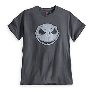 Jack Skellington Tee for Adults - Grey