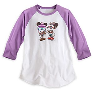 Mickey and Minnie Mouse Hipsters in Wonderland Tee for Women