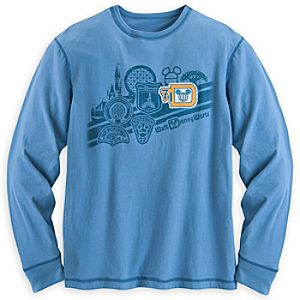 Walt Disney World Logo Long Sleeve Tee for Men