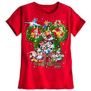 Santa Mickey Mouse and Friends Tee for Women - Holiday 2014