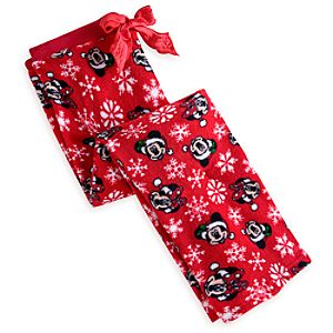 Mickey and Minnie Mouse Fleece Pants for Women