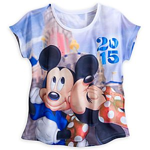 Minnie Mouse and Friends Sublimated Art Tee for Women - Disneyland 2015
