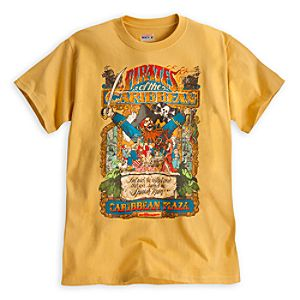 Pirates of the Caribbean Attraction Poster Tee for Adults - Walt Disney World - Limited Availability