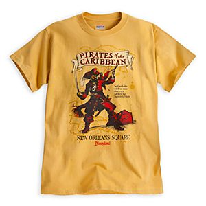 Pirates of the Caribbean Attraction Poster Tee for Adults - Disneyland - Limited Availability