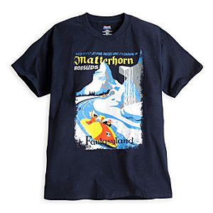 Matterhorn Bobsleds Attraction Poster Tee for Adults - Disneyland - Limited Availability