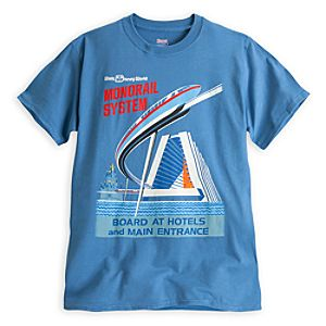 Monorail System Attraction Poster Tee for Adults - Walt Disney World - Limited Availability