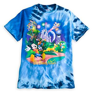 Mickey Mouse and Friends Tie Dye Tee for Adults - Walt Disney World