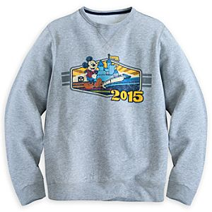 Mickey Mouse with Monorail Sweatshirt for Men - Walt Disney World 2015
