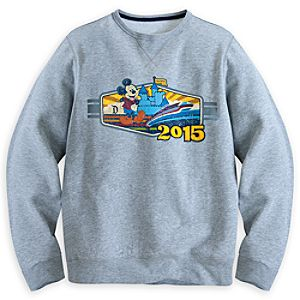 Mickey Mouse with Monorail Sweatshirt for Men - Disneyland 2015