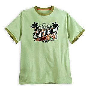 Mickey Mouse and Friends Ringer Tee for Men - Walt Disney World - Lime