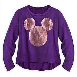 Mickey Mouse Icon Blousy Top for Women