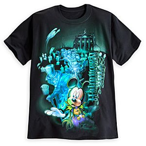 Mickey Mouse Haunted Mansion Tee for Adults - Disneyland - Halloween 2014