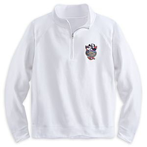 Captain Mickey Mouse Pullover 1/4 Zip Sweatshirt for Men - Disney Cruise Line