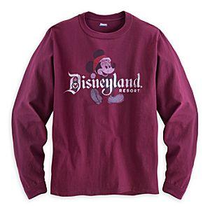 Santa Mickey Mouse Long Sleeve Tee for Men - Disneyland
