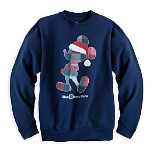 Santa Mickey Mouse Sweatshirt for Men - Walt Disney World