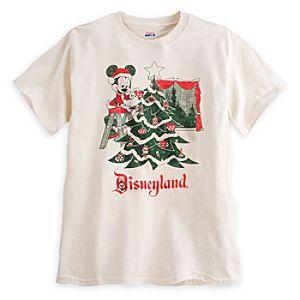 Santa Mickey Mouse Retro Tee for Men - Disneyland