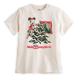 Santa Mickey Mouse Retro Tee for Men - Walt Disney World