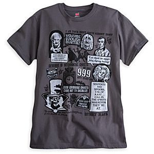 The Haunted Mansion Text Art Tee for Adults - Limited Availability