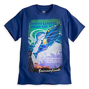 20,000 Leagues Under the Sea Attraction Poster Tee for Adults - Walt Disney World - Limited Availability
