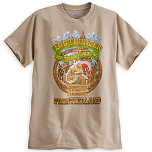 Big Thunder Mountain Railroad Attraction Poster Tee for Adults - Limited Availability