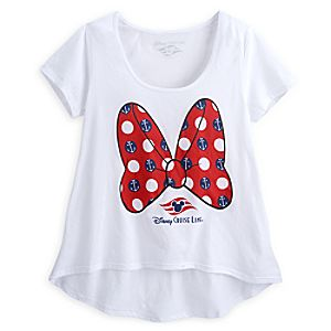 Minnie Mouse Bow Tee for Women - Disney Cruise Line