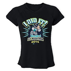 Disneyland Half Mararthon Performance Tee for Women - RunDisney 2014 - Limited Availability