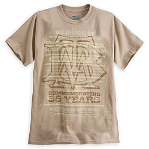 Disneylands Big Thunder Mountain Railroad 35th Anniversary Tee for Adults - Limited Availability