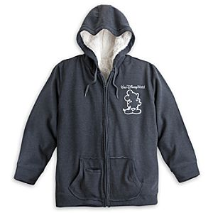 Mickey Mouse Sherpa Hoodie for Women - Walt Disney World - Gray