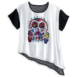 Disney Parks Dia De Los Muertos Tie Hem Top for Women