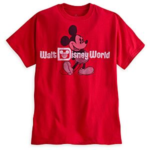 Mickey Mouse Classic Tee for Adults - Walt Disney World - Red