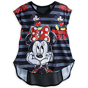 Minnie and Mickey Mouse Top for Women