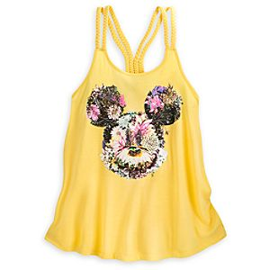 Mickey Mouse Floral Tank Top for Women