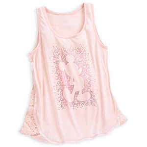 Mickey Mouse Lace Tank Tee for Women