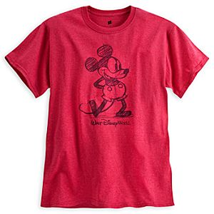 Mickey Mouse Tee for Adults - Walt Disney World - Red