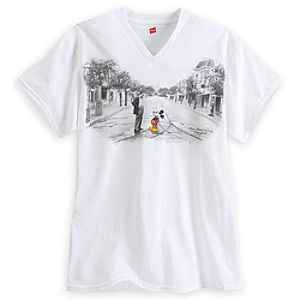 Mickey Mouse and Walt Disney V-Neck Tee for Adults - Disneyland