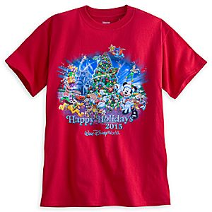 Santa Mickey Mouse and Friends Holiday 2015 Tee for Adults - Walt Disney World