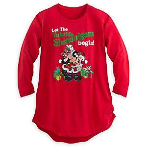 Mickey and Minnie Mouse Holiday Sleepshirt