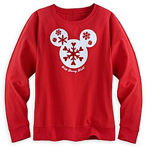 Mickey Mouse Icon Holiday Tee for Women - Long Sleeve - Walt Disney World