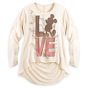 Mickey Mouse Love Long Sleeve Tee for Women