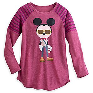 Hipster Mickey Mouse Long Sleeve Tee for Women