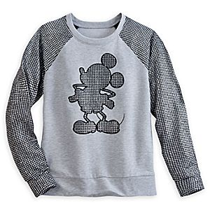 Mickey Mouse Houndstooth Pullover for Women - Disney Boutique
