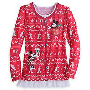 Mickey and Minnie Mouse Faux Sweater Tee for Adults