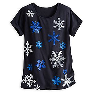 Mickey Mouse Icon Snowflake Tee for Women