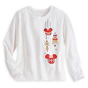 Mickey Mouse Holiday Ornament Pullover for Women