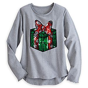 Minnie Mouse Sequin Holiday Top for Women