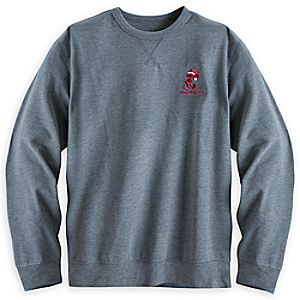 Santa Mickey Mouse Long Sleeve Sweatshirt for Adults - Walt Disney World