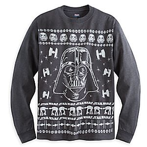 Darth Vader Long Sleeve ''Tacky Sweater'' Tee for Adults